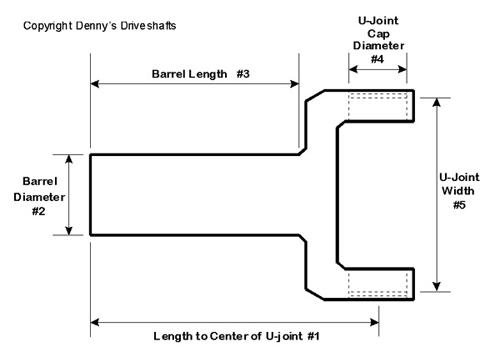 Dana Spicer T-400, 4L80, 4L85 Transmission Slip yoke for use on
