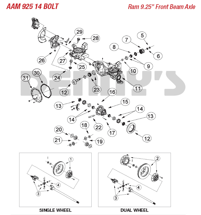 Amazing Aam American Axle 9 25 Inch Front Axle Parts For American Axle Wiring Digital Resources Dylitashwinbiharinl
