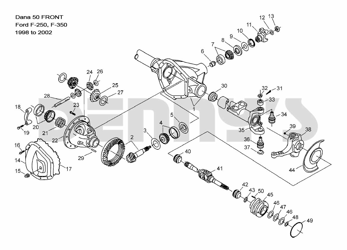 2001 ford f 250 front striaght axle hub diagram