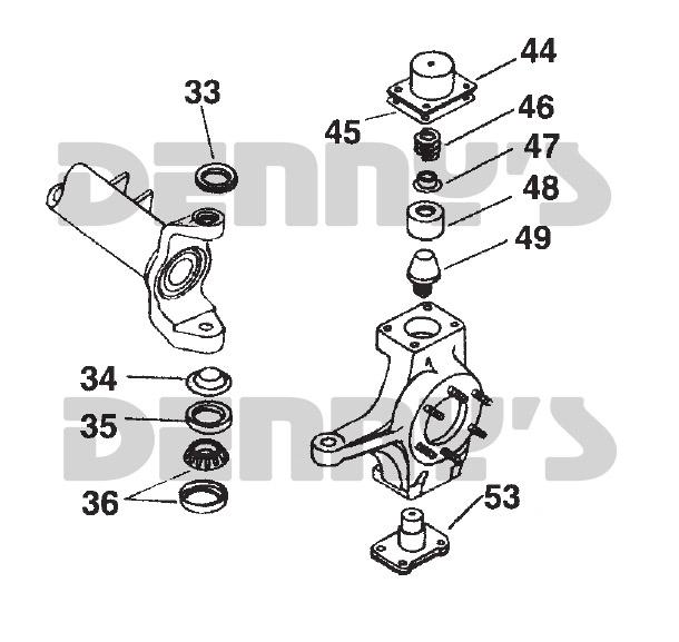 DANA SPICER 37302 Dana 60 Steering Knuckle King Pin for
