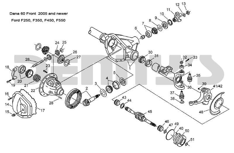 C2744_dana_60_front_ford_2005_and_newer on Ford Super Duty Parts Diagram