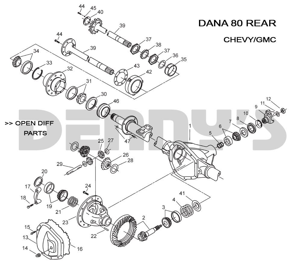 DANA 80 REAR - CHEVY - GMCDenny's Driveshafts