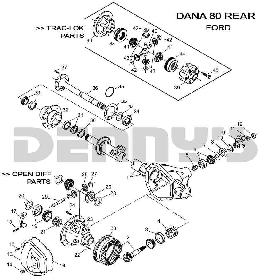 dana 80 rear - ford  denny's driveshafts