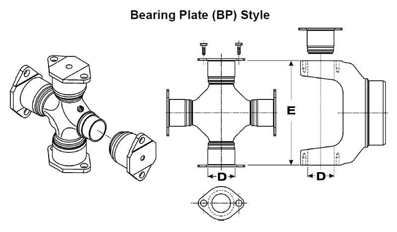 DANA SPICER 5-280X universal Joint 1710 series bearing plate