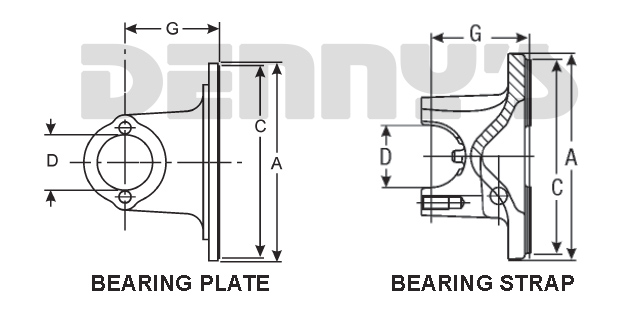 Heavy duty truck and equipment driveshaft flange yokes at Denny's Driveshafts