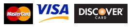Master Card, VISA and Discover