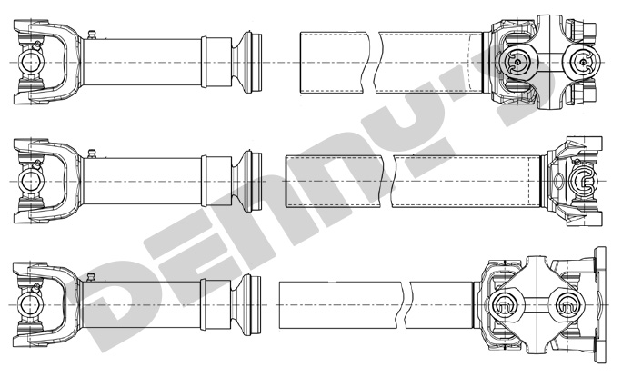 Build it yourself driveshaft parts at Denny's Driveshafts