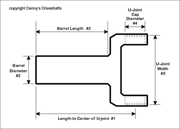 Slip yoke drawing 2 dennys driveshaft parts department stocks dana spicer and neapco