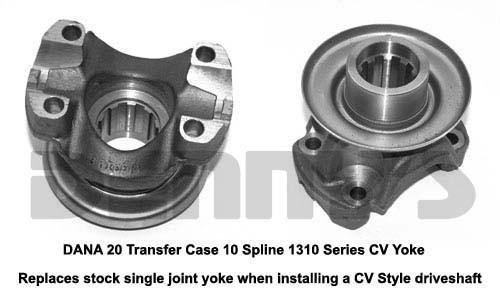 Dana Spicer 2-4-4061X CV yoke 1310 series fits Dana 20 and