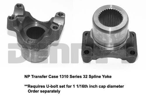 1310 Series YOKE 32 Spline NP203 and 205 Transfer Case NEAPCO