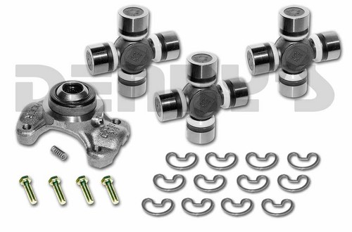CV-355-4 Rebuild Kit for JEEP with 1310 series Front/Rear CV Driveshaft includes Spicer greaseable 211355X CV Centering Yoke and (3) 5-1310X NON greaseable U-Joints