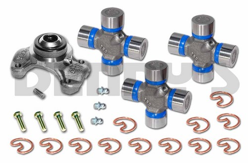 CV-355-2 Rebuild kit fits 1967 to 1977 CHEVY K5, K10, K20, K30 4X4 Front 1310 CV Driveshaft includes DANA SPICER GREASABLE 211355X Centering Yoke and (3) 5-153X greaseable U-Joints
