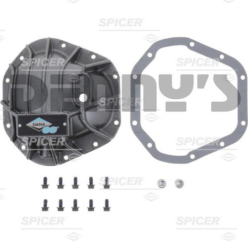 Dana Spicer 10024090 Nodular Iron Gray powdercoat Diff Cover Kit fits Front/Rear Dana 60 fits 1954 to 2018