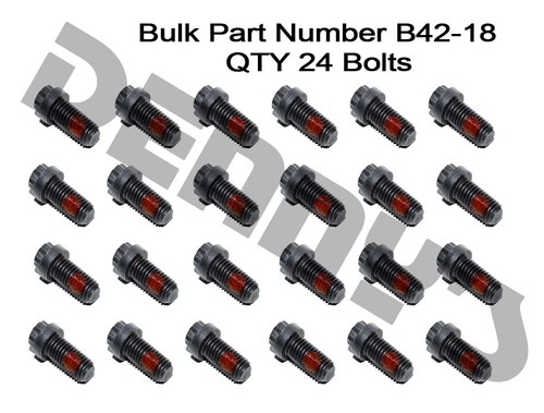 B42-18 Package of 24 BOLTS M12-1.75 - part number 42-1855 for FORD 7.5, 8.8, 10.5 inch Rear End Pinion Flange - 12mm 12 point bolt set