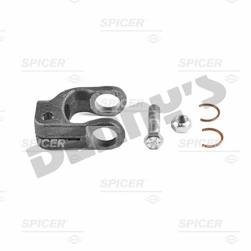 Dana Spicer 10-4-971SX Yoke fits 0.994 in. OD splined steering shaft, clamp style, 1000 series, 30 splines based on 36