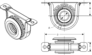 SPICER 210088-1X  CENTER SUPPORT BEARING with 1.378 INSIDE DIAMETER