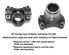 Dana Spicer 2-4-5441 - CV YOKE 1330 Series 32 Spline for NP 203 205 208 241 Transfer Case