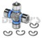 Dana Spicer 5-1310X-1X Greaseable universal joint fits 1997 to 2006 Jeep Wrangler TJ 1310 series front driveshaft u-joint GREASE fitting in Cap