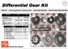 AAM 74047037 Diff GEAR Kit Spider gear set fits 2003 to 2006 DODGE Ram 2500, 3500 with 9.25 inch AAM Front Axle