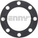 Dana Spicer 39697 Rear Axle Flange Gasket 4-5/8 inch OD for 1975 to 2011 Ford and Dodge with Dana 80 rear axle