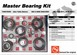 AAM 74067005 MASTER BEARING KIT fits 2003 to 2013 DODGE Ram 2500, 3500 with 9.25 inch AAM Front Axle
