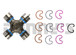 Dana Spicer 5-1410-1X GREASEABLE Universal Joint 1410 Series fitting in end of bearing cap