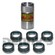 Denny's DE-15418 KIT includes (1) DE-15688 installation tool plus (6) DANA SPICER 2-86-418 Rubber Boots for 1310, 1330, 1350, 1355, 1410 double cardan cv driveshafts