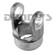 DANA SPICER 10-4-223 PTO End Yoke 1.50 inch Round Bore with .375 Key 1000 Series