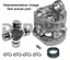 Neapco N3-83-024XKT 1350 Double Cardan CV Head Assembly KIT fits Ford with 4.25 inch bolt circle and 2 inch pilot on front transfer case flange