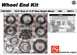AAM 74070001 Wheel Bearing Kit fits SINGLE rear wheel 2001 to 2010 Chevy GMC trucks with 10.5 inch 14 bolt rear end - Kit does both sides