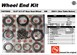 AAM 74070002 Wheel Bearing Kit fits DUAL REAR WHEEL 2011 to 2016 Chevy GMC Savana Express trucks with 10.5 inch 14 bolt rear end - Kit does both sides