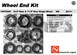 AAM 74070003 Wheel Bearing Kit fits SINGLE rear wheel 2011 to 2016 Chevy GMC trucks with 10.5 inch 14 bolt rear end - Kit does both sides