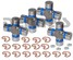 5-153XKT4 Multipack Qty of 4 Dana Spicer 5-153X Greaseable Driveshaft U-Joints