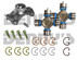 CV-179-2 Jeep TJ RUBICON 2003 to 2006 CV Rebuild Kit 1330 Series includes Spicer 211179X greaseable Centering yoke and (2) 5-1330-1X greaseable U-Joints with fitting in end of cap for easy access