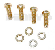 4289-716 Set of 4 grade 8 CV Flange Bolts 7/16 - 14 coarse thread and 4 lock washers