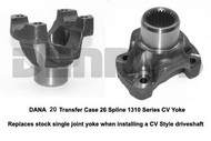 DANA SPICER 2-4-4341 CV Yoke Dana 300 Transfer Case 1310 Series with 26 Spline output