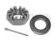 AAM 40010627 Nut and 40010628 Washer set with cotter pin 2003 -2013 Dodge Ram 2500, 3500 Outer Axle 4x4 with 9.25 inch AAM Front