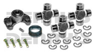 Jeep CV Rebuild Kit 1310 series includes Dana Spicer 211544X Centering Yoke and (3) 5-1310X U-Joints (1) 2-86-418 Rubber Boot NON GREASABLE