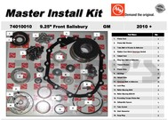AAM 74010010 MASTER INSTALL KIT fits 2010 to 2016 Chevy GM Sierra Silverado with AAM 9.25 inch Salisbury Front Axle